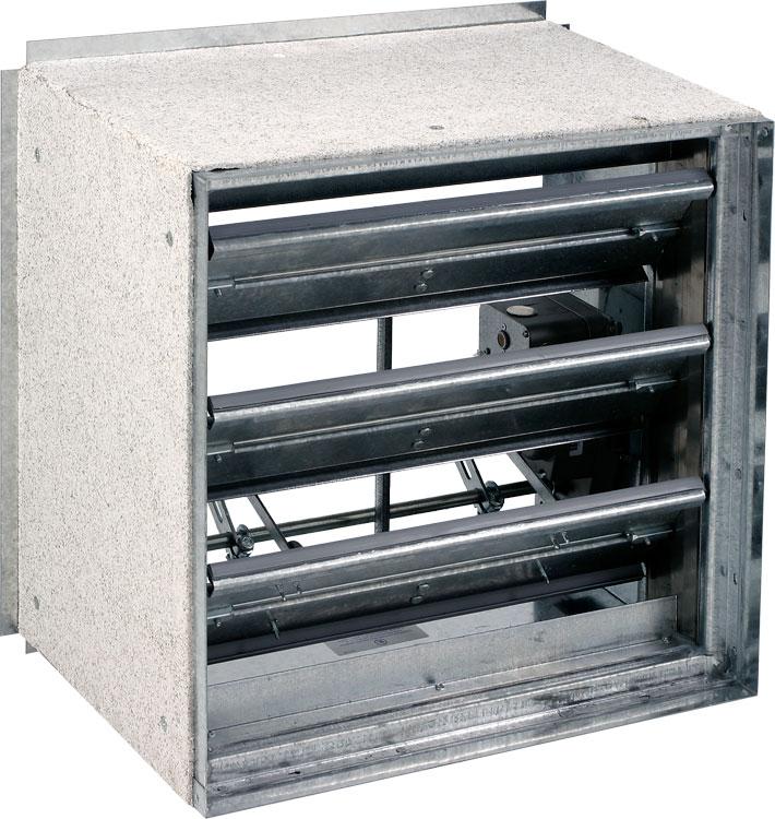 Class ii front access grille 1 hr fire smoke damper for Motorized smoke fire damper