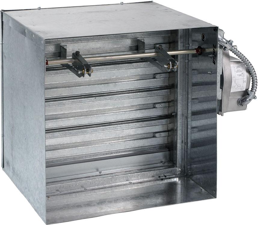 Class ii 3hr single thickness blade fire smoke damper for Motorized smoke fire damper