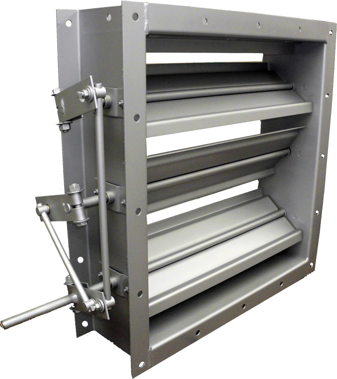 Industrial Single Thickness Formed Steel Blade Control Damper