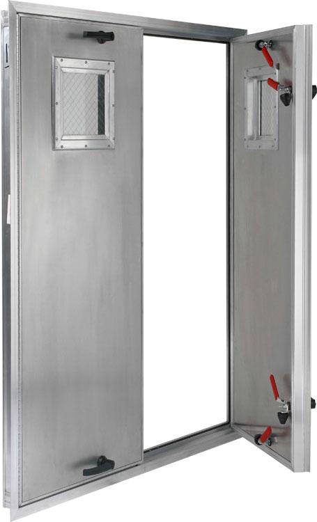 4  Deep Insulated Aluminum Door Out Swing ... & Plenum Access Doors