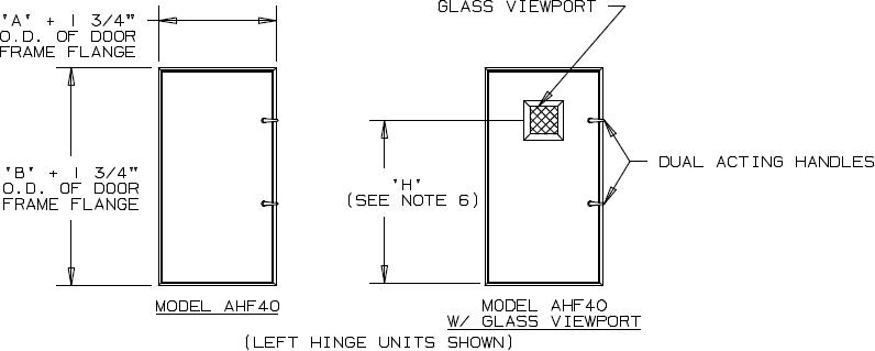 Quot deep insulated aluminum door in swing