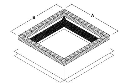 Self Flashing Insulated Steel Or Aluminum Roof Curb
